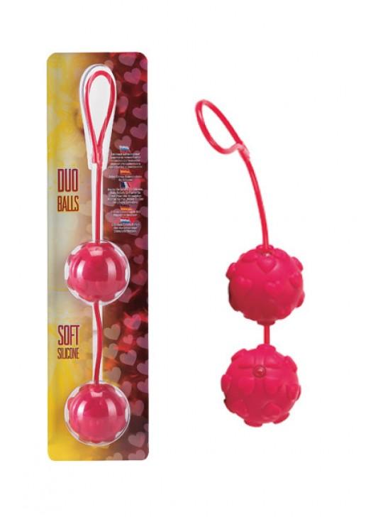 Вагинальные шарики Dream Toys с дополнительной стимуляцией, красные, Ø3,5 см