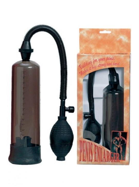 Помпа для пениса Dream Toys, вакуумная механическая, с насадками, ABS пластик, черная, Ø5 см