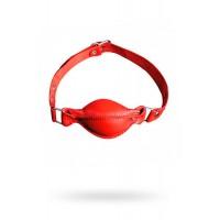 Кляп Sitabella красный, кожаный