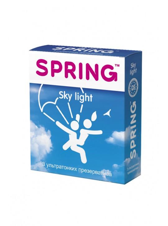 Презервативы SPRING SKY LIGHT - ультра тонкие 3шт