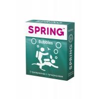 Презервативы SPRING BUBBLES - с пупырышками 3шт