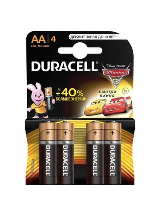 Пальчиковые Батарейки АА DURACELL LR6 NEW 4 ШТ