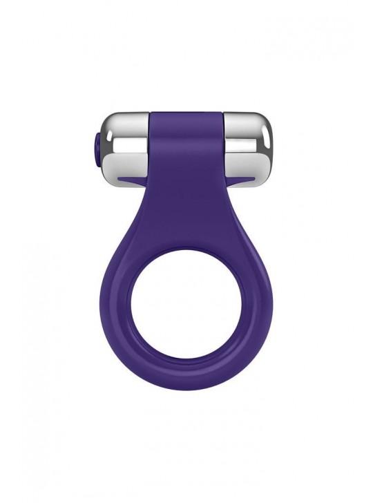 Эрекционное кольцо OVO в форме драгоценного изделия с вибрацией