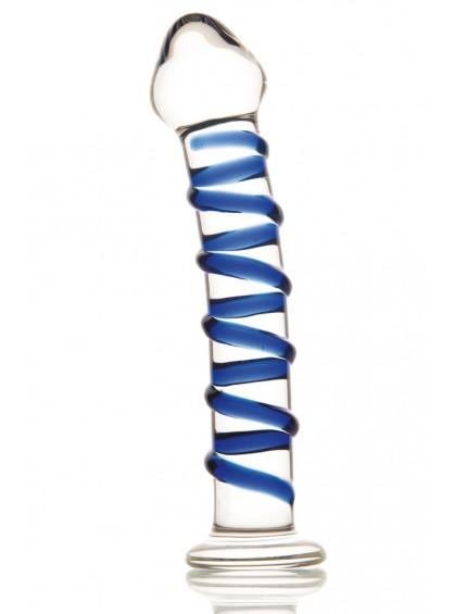 Фаллоимитатор Sexus Glass, стеклянный, прозрачный, 18 см