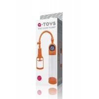 Вакуумная помпа TOYFA A-toys мощная с манометром, оранжевая, 20 см