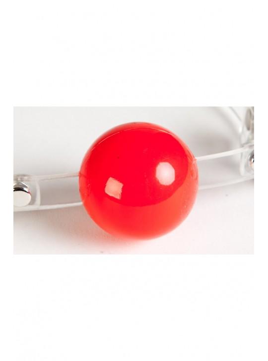 Кляп силиконовый, красный