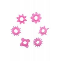 Набор колец на пенис TOYFA, ПВХ, розовый, 6 шт