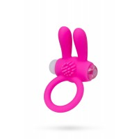 Виброкольцо розовое A-toys с ушками
