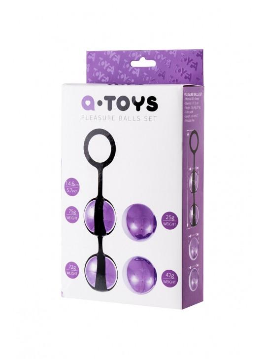 Набор вагинальных шариков TOYFA 4шт, ABS пластик+силикон Ø3,5 см