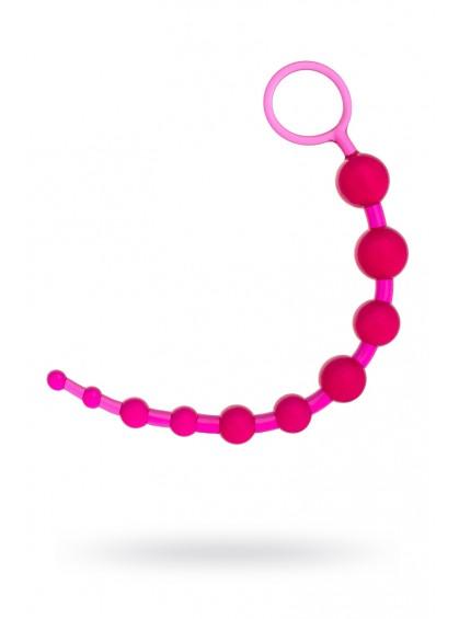Шарики анальные TOYFA, PVC, розовые