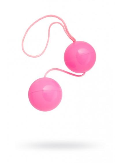 Вагинальные шарики TOYFA, ABS пластик, розовые, Ø3 см