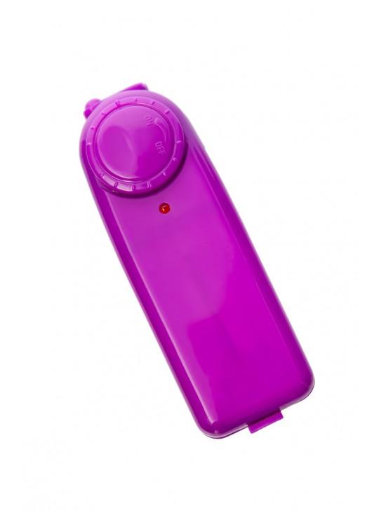 Вагинальные шарики TOYFA с вибрацией, ABS пластик, фиолетовые, Ø3 см